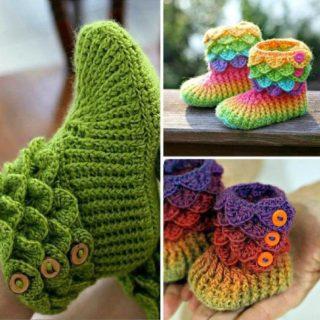 The Cutest Crochet Crocodile Stitch Booties [Tutorial & Patterns]