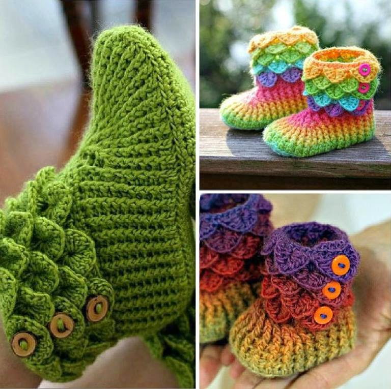 Crocodile-Stitch-Crochet-Booties
