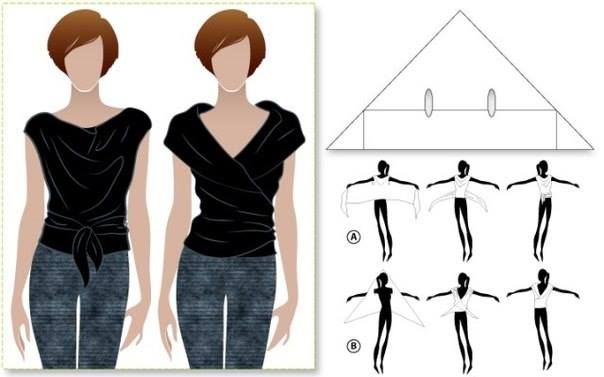 DIY An Easiest Two Way Wrap Top Wonderful 2 easy Ways to Wrap Top