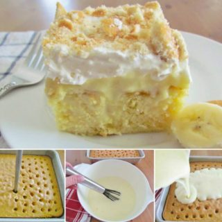 Wonderful DIY Banana Pudding Poke Cake