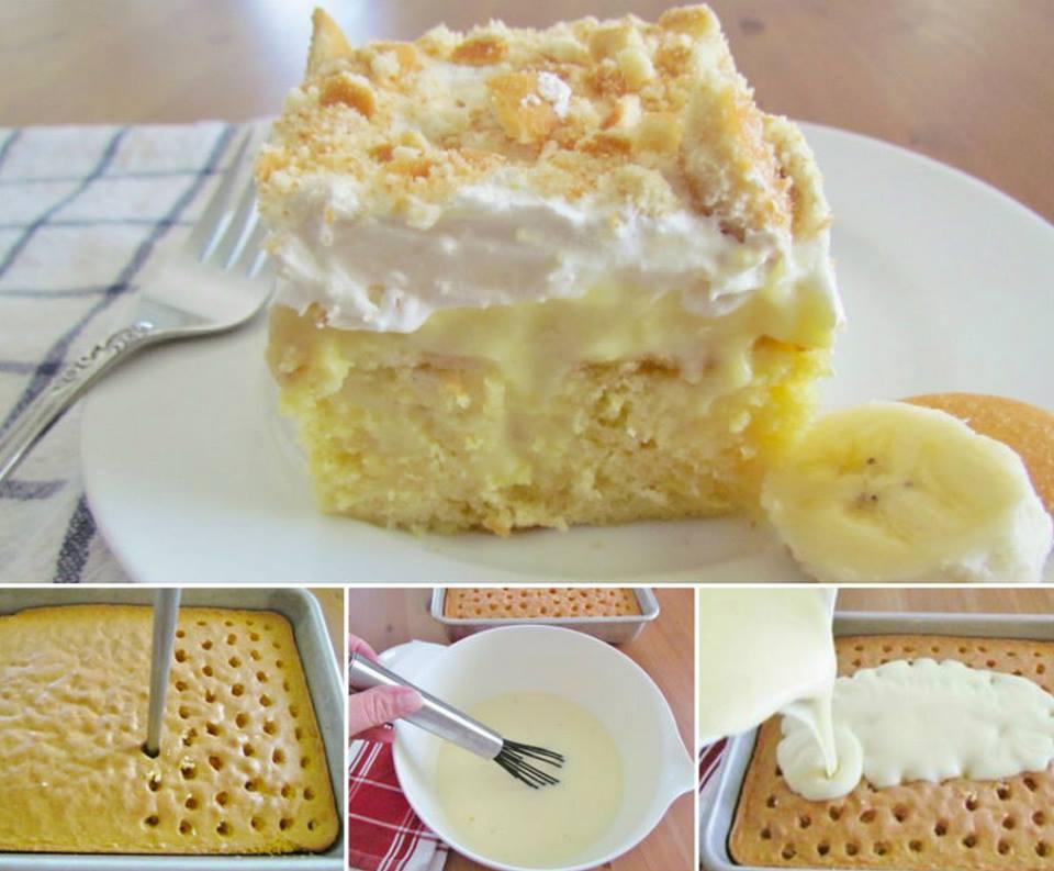 DIY Banana Pudding Poke Cake Wonderful DIY Banana Pudding Poke Cake