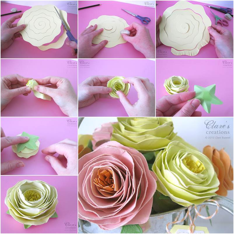 Wonderful DIY Easy Rolled Spiral Paper Flower