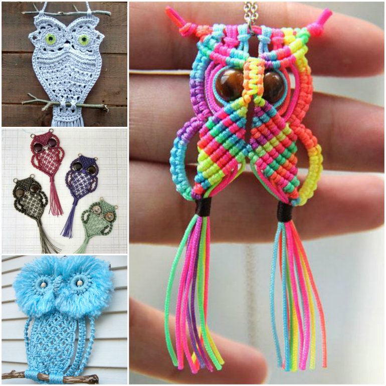 DIY Macrame Owls  Wonderful DIY Unique Macrame Beaded Bracelet