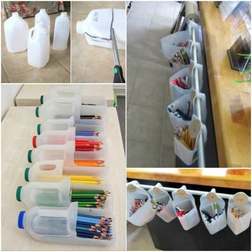 Wonderful Diy Recycled Milk Carton Storage