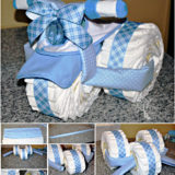 Wonderful DIY Creative Tricycle Diaper Cake
