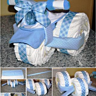 Wonderful DIY Creative Tricycle Diaper Cake