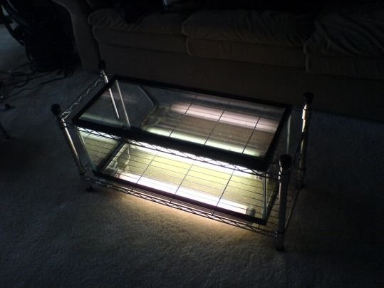 DIY fish tank coffee table - structure