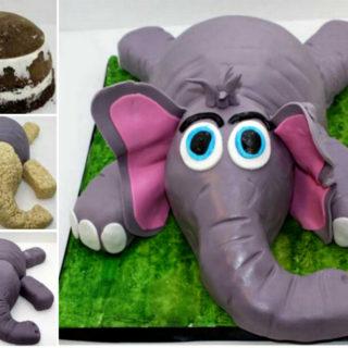 Wonderful DIY Cute Little Elephant Cake