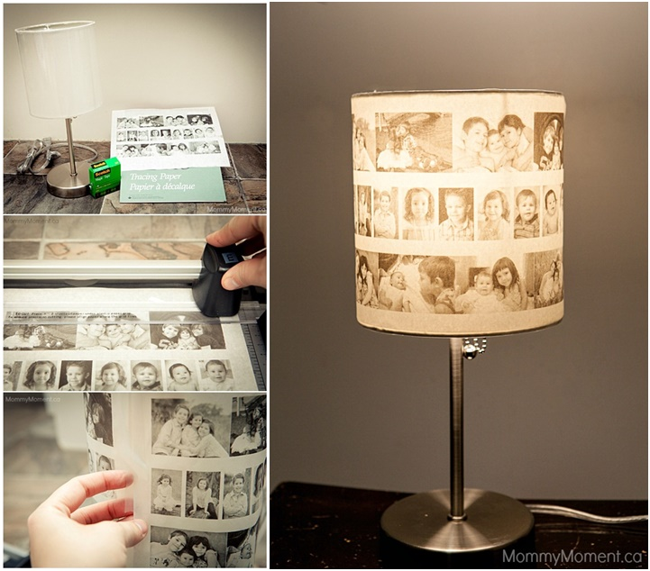 Wonderful diy lovely family photo lampshade aloadofball Choice Image
