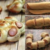 Wonderful DIY Flower Hot Dog Bread Rolls