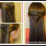 Wonderful DIY Half Up  Arrowhead Braid  Hairstyle