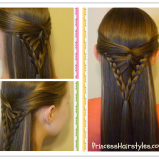 Wonderful DIY Half Up  Arrowhead Braid  Hairstyle