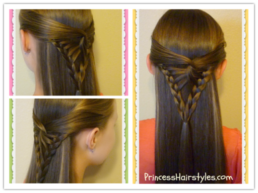Half Up Arrowhead Braid F  Wonderful DIY Half Up  Arrowhead Braid  Hairstyle