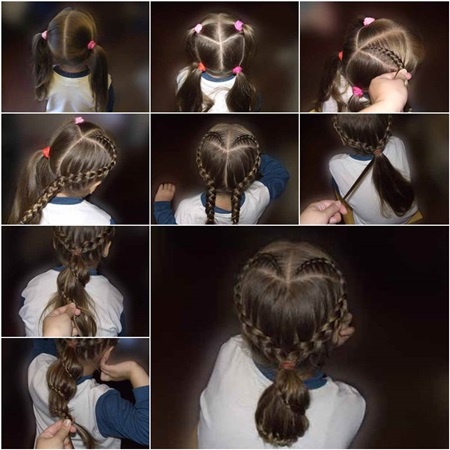 Heart Shaped Braid Hairstyle F Wondeful DIY Sweet Heart Braid Hairstyle