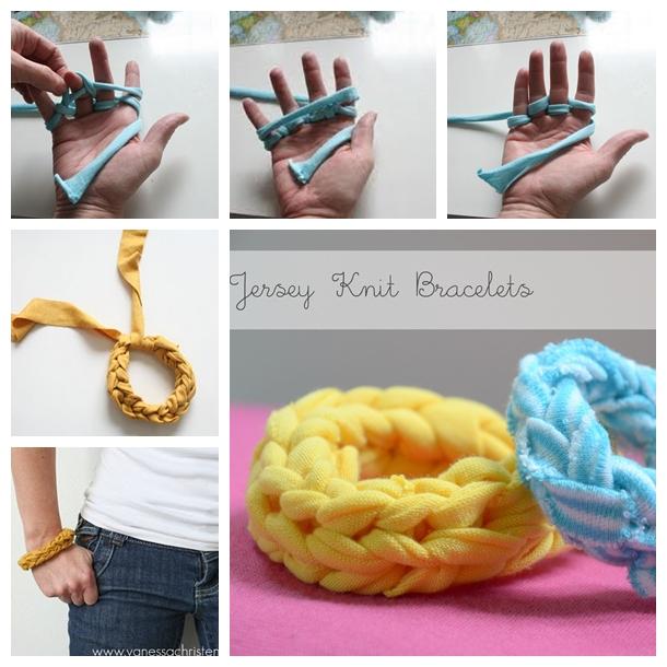 Jersey-Finger-Knitted-Bracelets F