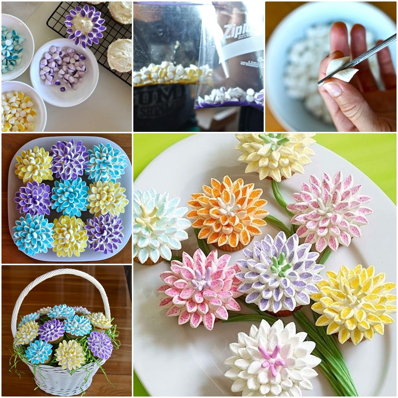 Marshmallow Flower Cupcake topping