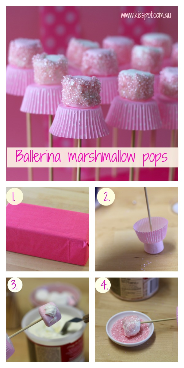 Marshmallow ballerina f2 Wonderful DIY Cute Marshmallow Ballerinas