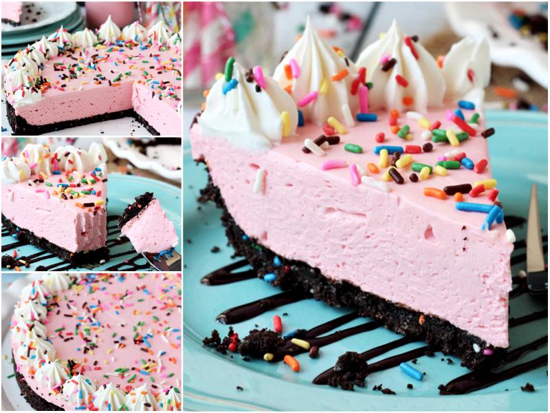 No Bake Strawberry Milkshake Cheesecake Wonderful DIY  No Bake Strawberry Cheesecake