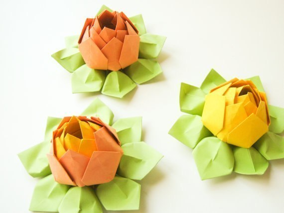 VIEW IN GALLERY Origami Lotus Flower8