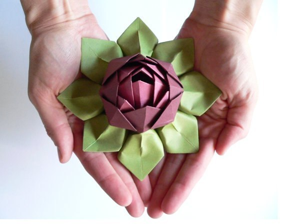 VIEW IN GALLERY Origami Lotus Flower9