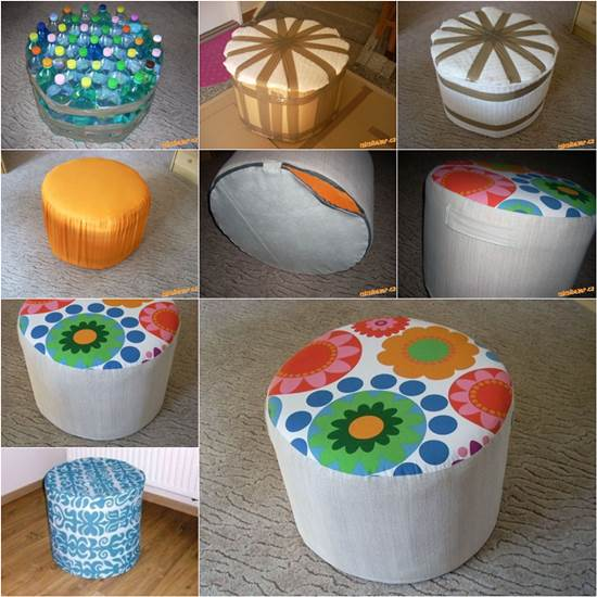 Ottoman from Plastic Bottles Wonderful DIY Easy Ottoman from Plastic Bottles