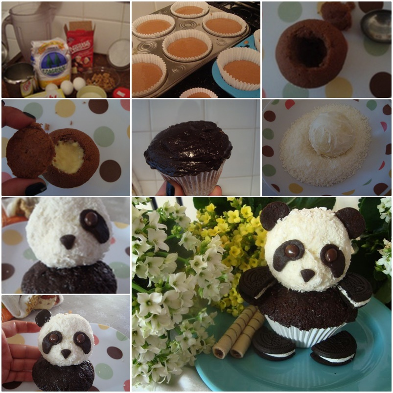 Panda CupCake F Wonderful DIY  Sweet Panda CupCake