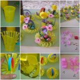 Wonderful DIY Mini  Basket From Plastic Cup