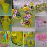Wonderful DIY Mini  Basket From Plastic Cup