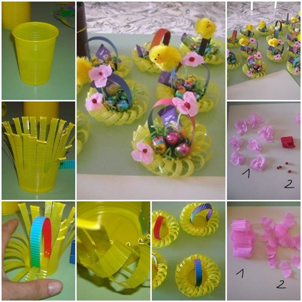 Paper cup flower basket boatremyeaton paper cup flower basket wonderful diy mini basket from plastic cup paper cup flower basket creative corner how to make mightylinksfo