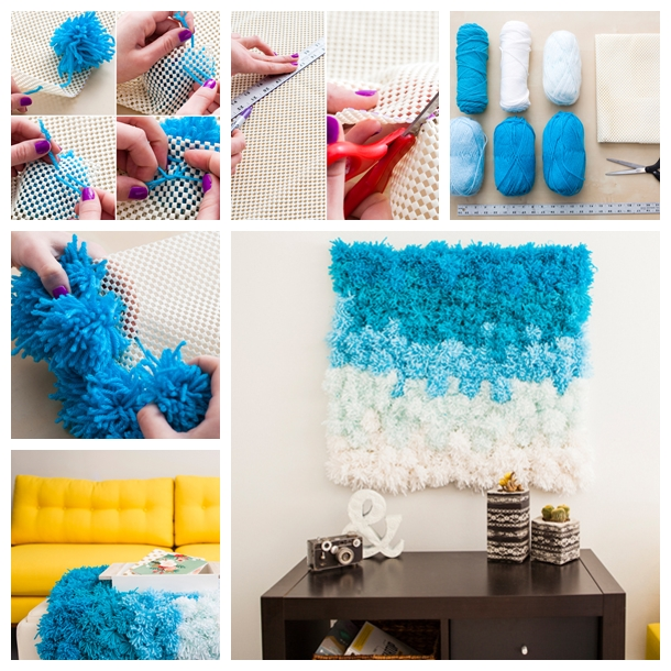 Pom Pom Wall Hanging F Wonderful DIY Beautiful Pom Pom Wall Hanging