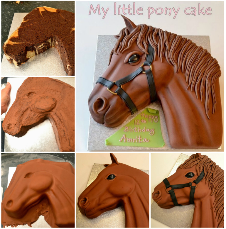Pony Cake  Wonderful DIY Pony Cake With Template