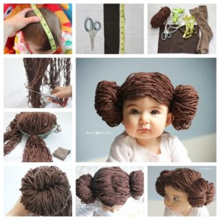 Wonderful DIY Cute Princess Leia Yarn Wig