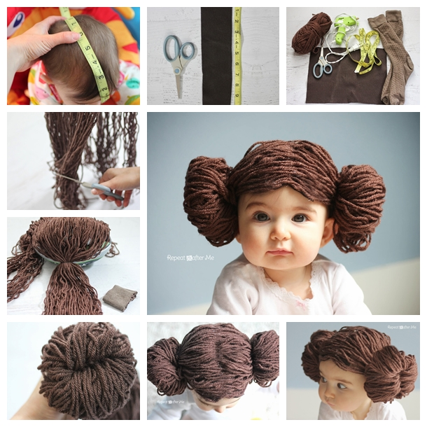 Princess Leia Yarn Wig F  Wonderful DIY Cute Princess Leia Yarn Wig