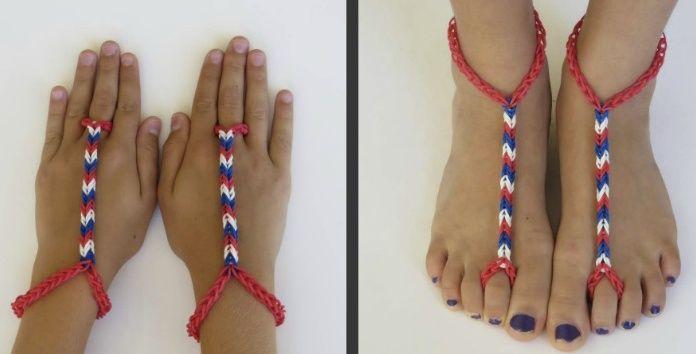 Rainbow Loom Barefoot Sandal tutorial