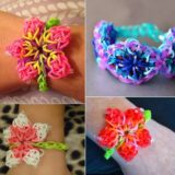 Wonderful DIY Rainbow Loom Hibiscus Flower Bracelet