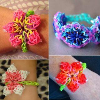 Wonderful DIY Rainbow Loom Hibiscus Flower Bracelet