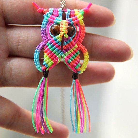 Rainbow-Macrame-Owl