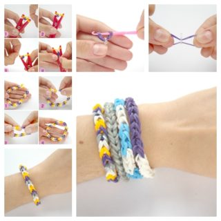 Wonderful DIY Rubber Band Bracelet with  Clothespin