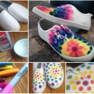 Show-Stopping Sharpie Tie Dye Shoes – Free Tutorial