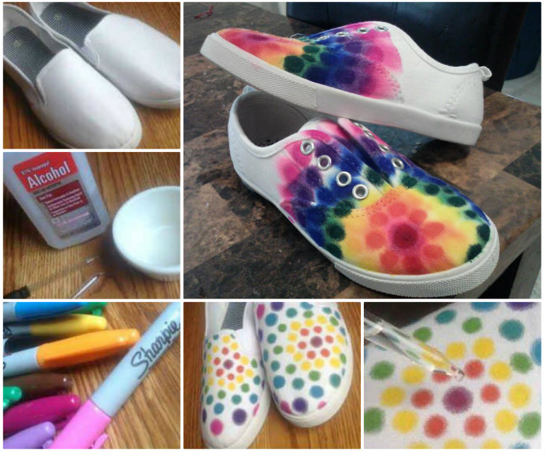 Sharpie Tie Dye Shoes DIY Show Stopping Sharpie Tie Dye Shoes   Free Tutorial