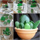 Stunning DIY Stone Cactus Yard Art