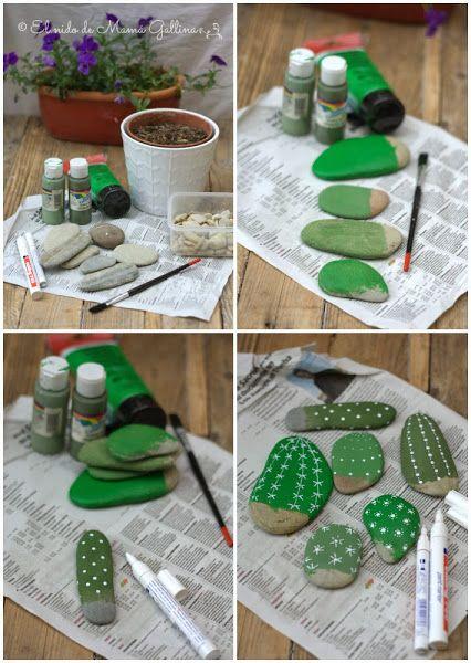 Stone Cactus Yard Art2