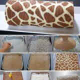Wonderful DIY Swiss Roll Cake With Giraffe Pattern