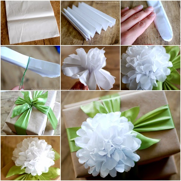 Wonderful DIY Tissue Paper Flower Gift Top
