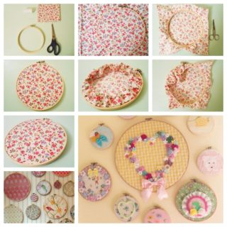 Wonderful DIY Wall Hanging With Embroidery Hoop