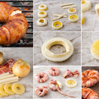 Wonderful  DIY Bacon Wrapped Pineapple  Rings With Mozzarella