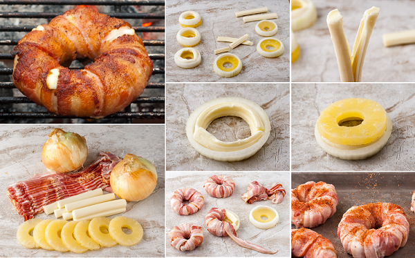 bacon wrapped pineapple mozzarella rings recipe Wonderful  DIY Bacon Wrapped Pineapple  Rings With Mozzarella