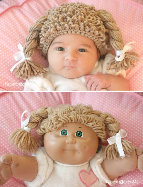 cabbage patch doll hat Crochet Cabbage Patch Doll Hat   An 80s Revival