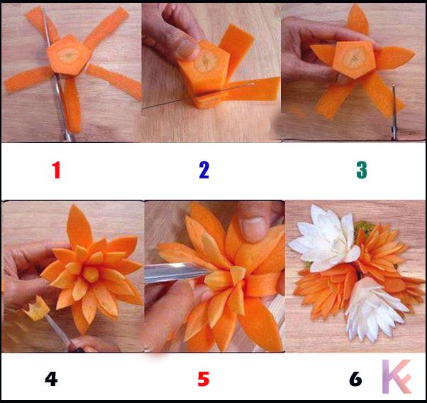 carrot Wonderful DIY Food Art Garnishing