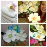 Wonderful DIY Beautiful Diaper Flower Bouquet